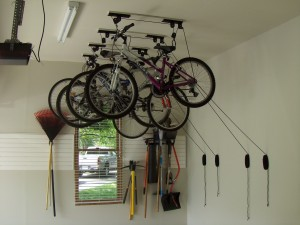 Retractable Bicycle Ceiling Storage