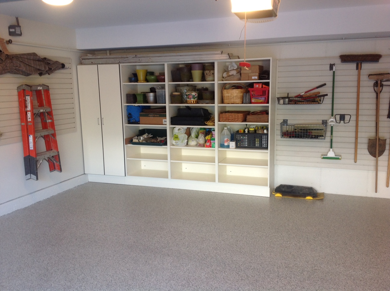 simple storage solutions for a small garage
