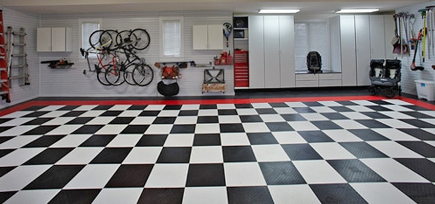 Carpet tiles for garage floors