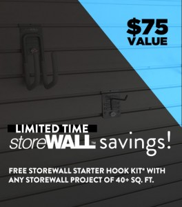 Save on storeWALL! $75 Value from Garage Designs.