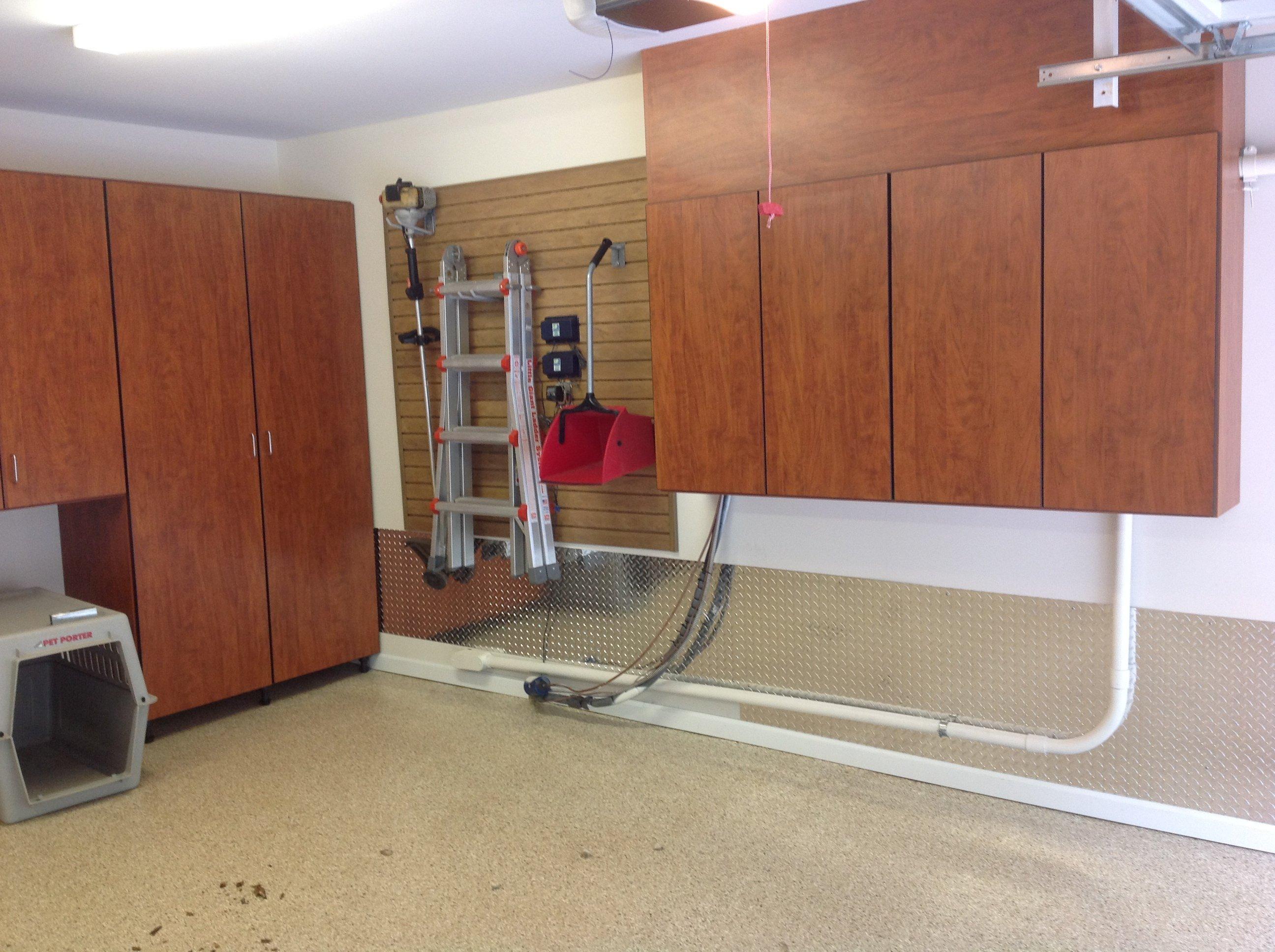 Dog days in the remodeled garage for Garage designs com