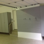 Garage well organized and painted in gray