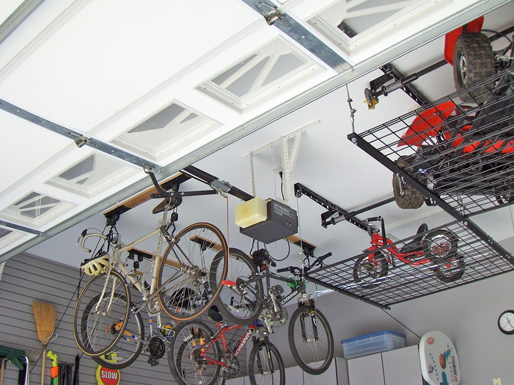 overhead racks- garage storage solutions