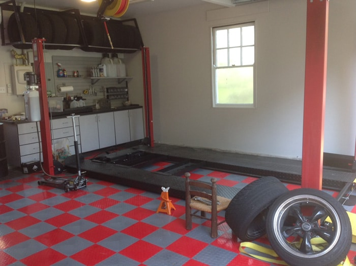 Car lifts for home garages by garage designs of st louis for Cost to build a garage st louis