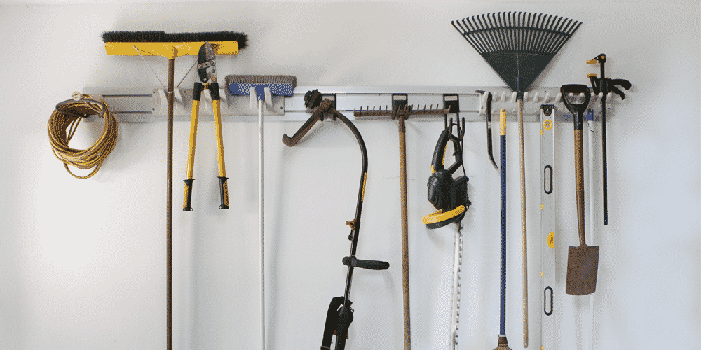 A homeowner used StoreWall to organize their cluttered garage
