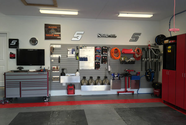 Race Car Garage By Garage Designs of St. Louis