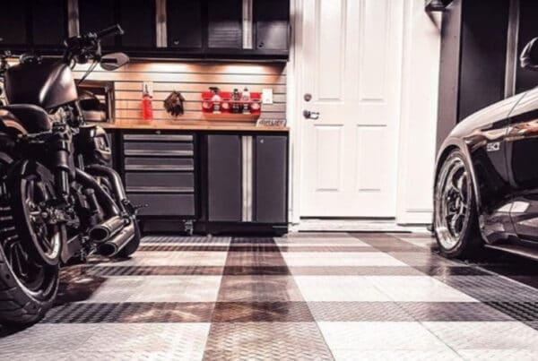 RaceDeck Garage Flooring And Cabinets